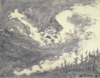 Treeline with Swirling Sky