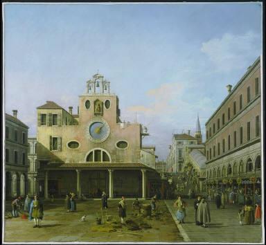 The Campo di Rialto and S. Giacomo di Rialto, Venice