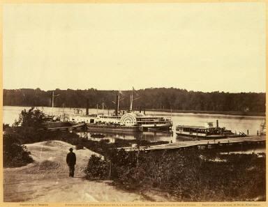 Medical Supply Boat, Appomattox Landing, Virginia, from Gardner's Sketchbook of the Civil War