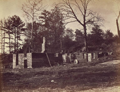 Ruins of Gaines' Mill, Virginia, from Gardner's Sketchbook of the Civil War