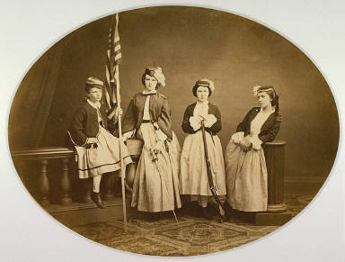 Group at the Sanitary Commission Fair, Albany, New York