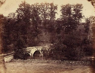 Burnside Bridge, Across Antietam Creek, Maryland, from Gardner's Sketchbook of the Civil War