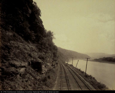 Cathedral Rocks, Susquehanna River near Meghoppen, for the Lehigh Valley Railroad