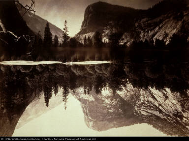 Mirror Lake and Reflections, Yosemite Valley, Mariposa County, California