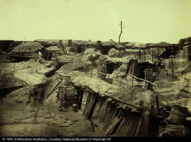 Quarters of Men in Fort Sedgwick, Known as Fort Hell