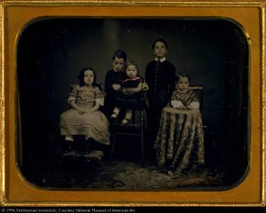 Five Children in Studio