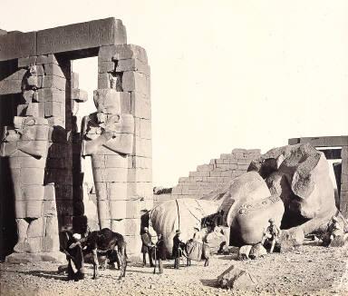 The Rameseum of El-Kurneh, Thebes (The Fallen Collossus)