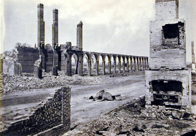 Ruins of the Railroad Depot, Charleston. Plate 61, from Photographic Views of Sh