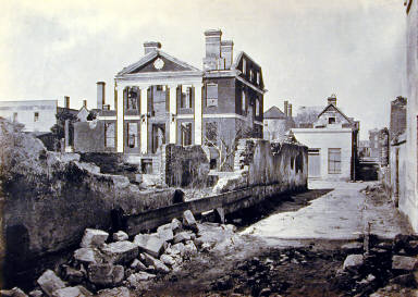 Ruins of the Pinckney Mansion, Charleston, S.C. Plate 59 from Photographic Views