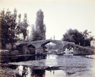 Kashmir and Scinde Valley. Bridge near Srinugyar (?) built by Akbar