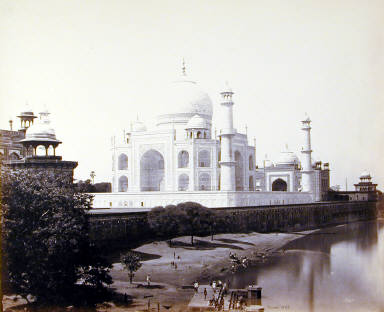 Agra. The Taj from the River