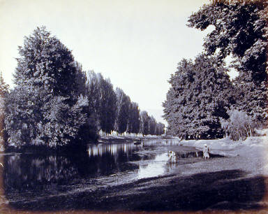 Kashmir and Scinde Valley. Chumar Bagh in the Shul Canal