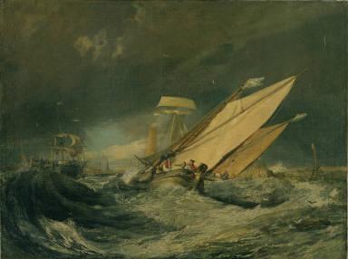 Fishing Boats Entering Calais Harbor