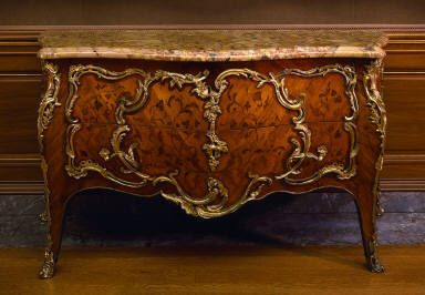 Commode with Floral Marquetry