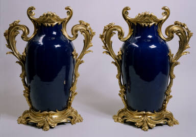 Pair of Chinese Porcelain Vases with French Gilt-Bronze Mounts