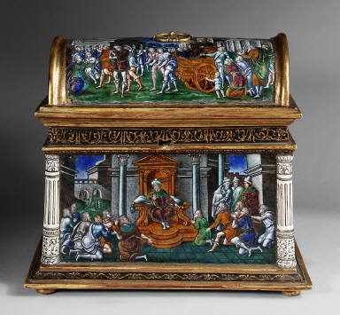 Limoges Painted Casket: Old Testament Subjects