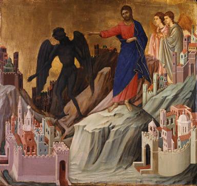 Altarpiece: Maestà (The Temptation of Christ on the Mountain)