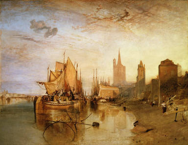 Cologne: The Arrival of a Packet-Boat: Evening