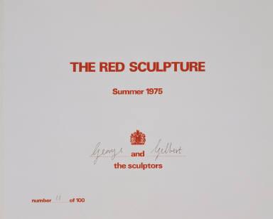 The Red Sculpture Album (Title Page)