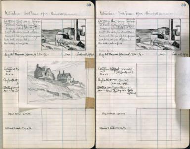 Artist's ledger - Book II: P. 39 COLD STORAGE PLANT COTTAGES AT WELFLEET