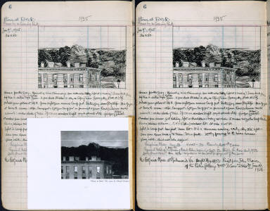 Artist's ledger - Book II: P. 6 HOUSE AT DUSK