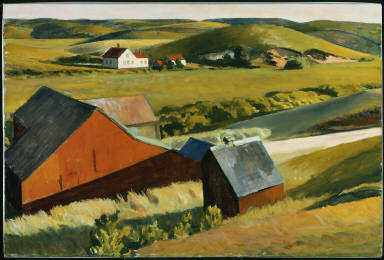 (Cobb's Barns and Distant Houses)