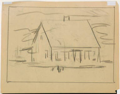 (Sketch of an unidentified house)