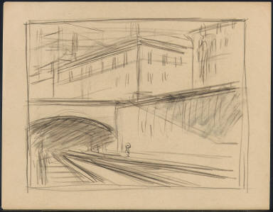 [Study for Approaching a City, Drawing for painting Approaching a City]
