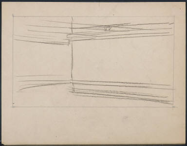 [Study for Nighthawks, Drawing for painting Nighthawks]