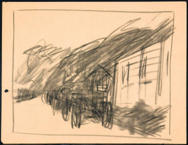 [Study for Light Battery at Gettysburg, Drawing for painting Light Battery at Gerrysburg]