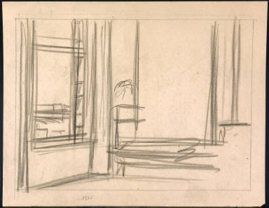 [Study for Morning in a City, Drawing for Morning in a City]
