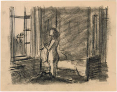 [Study for Morning in a City, Drawing for painting Morning in a City]