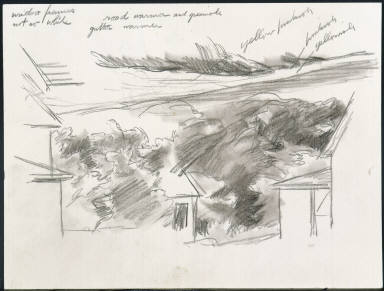 [Study for House on the Cape, Drawing for painting House on the Cape]