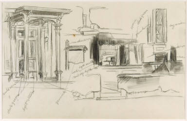 [Study for Rooms for Tourists, Drawing for painting Rooms for Tourists]
