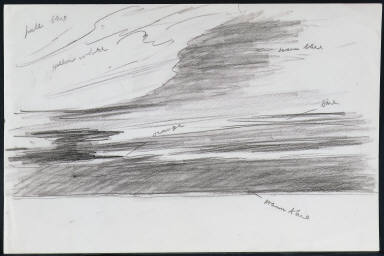[Study for Railroad Sunset, Drawing for painting Railroad Sunset]