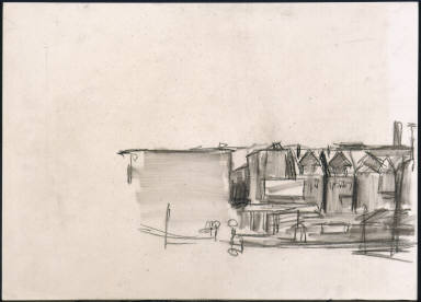 [Study for East Wind over Weehawken, Drawing for painting East Wind over Weehawken]