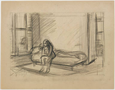 [Study for Summer in the City, Drawing for painting Summer in the City]