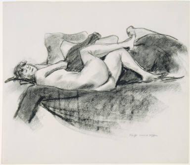 Jo Hopper Reclining on a Couch