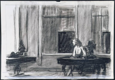 [Study for City Sunlight, Drawing for painting City Sunlight]