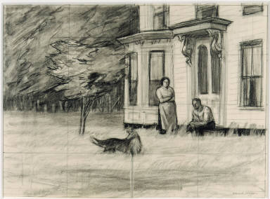 [Study for Cape Cod Evening, Drawing for painting Cape Cod Evening]