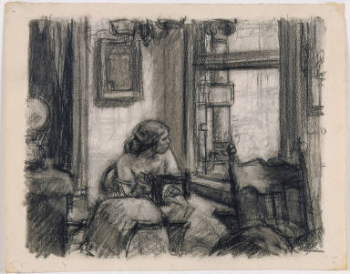 [Study for East Side Interior, Drawing for East Side Interior]