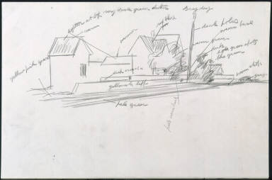 [Study for Route 6, Eastham, Drawing for painting Route 6, Eastham]