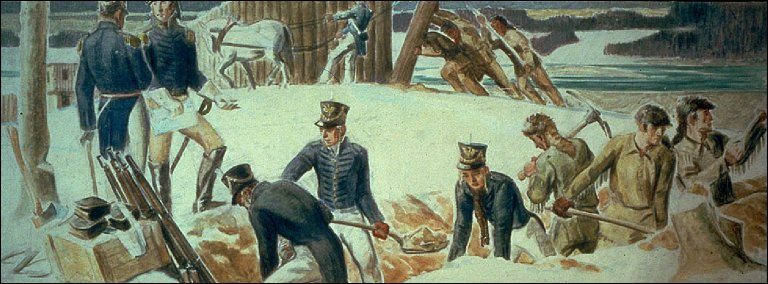 The Building of Fort Meigs, 1813 (Mural Study, Perrysburg, Ohio Post Office)
