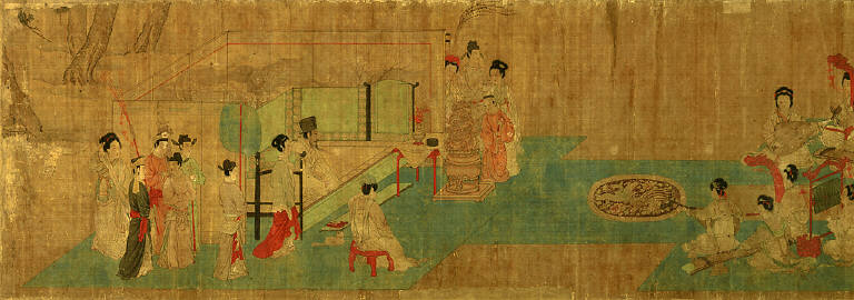 Female Musicians Playing Before the Emperor