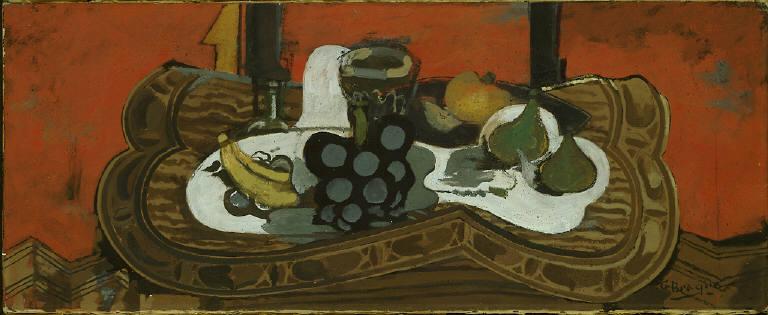 Still Life: Glass, Grapes and Bananas