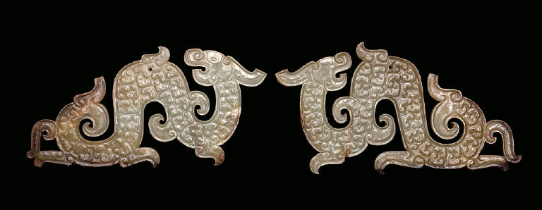One of a Pair of Arched Dragon Pendants