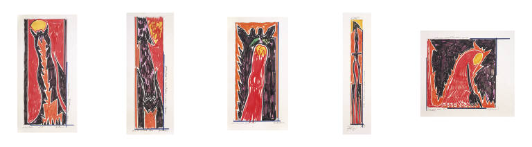 Left Hand Devil (Group of 5 Drawings)