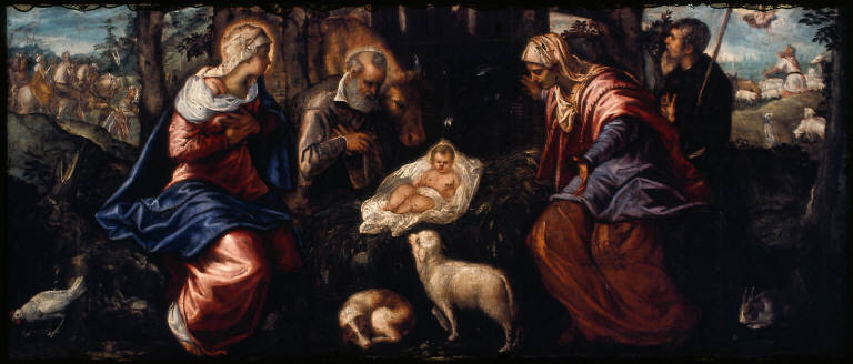The Nativity with Saint Anne and Scenes of the Journey of the Magi and the Announcement to