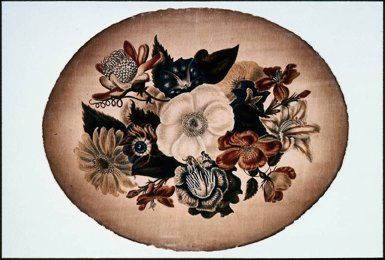 Oval Vignette of Flowers