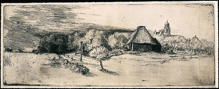 [Landscape with Trees, Farm Buildings and a Tower, Landscape with Trees, Farm Building and a Tower]